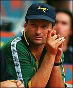Australian captain Steve Waugh