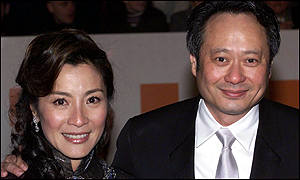 Bafta's best director Ang Lee with Michelle Yeoh