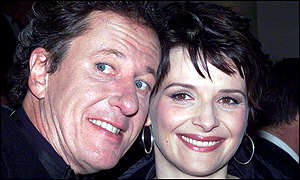 Geoffrey Rush and Juliette Binoche