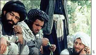 Taleban fighters near Kabul