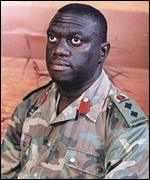 Dr Besigye pictured when in the army