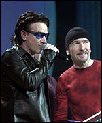 Bono and The Edge from U2