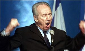 Labour Party elder statesman Shimon Peres