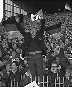 German fan at Villa Park