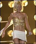 Geri Haliwell at the 2001 Brit Awards