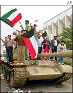 Kuwaitis celebrate liberation after the Gulf War