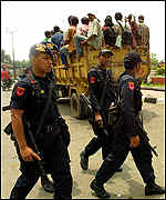 Security forces in Kalimantan