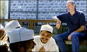 John Cleese with Indian prisoners