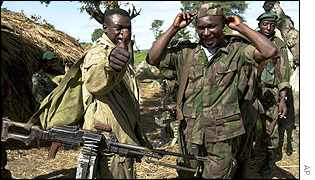 Rwandan soldiers in Pweto