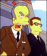 Rupert Murdoch as a Simpsons character