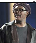Actor Samuel L Jackson at the 2001 Brit Awards