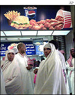 Kentucky fired Chicken in Mecca