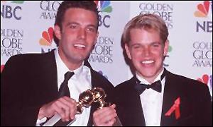 Ben Affleck and Matt Damon at the Golden Globes
