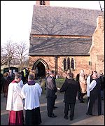 The service was held at the Parish Church of St Paul, Hensall, about a mile from the disaster scene at the village of Great Heck