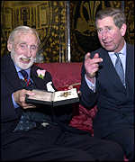 Spike Milligan received an honorary knighthood from the prince