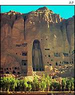 Bamiyan statue seen from a distance