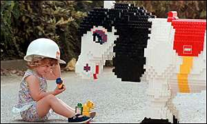 Lego horse and child