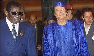 Col. Qadhafi at the Sirte II Summit 2 March 2001