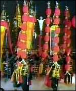 Ceremonial dancers