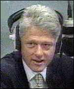 Clinton in radio phone-in