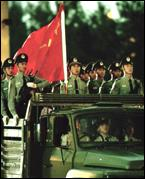 Chinese troops in Hong Kong