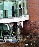 Bomb damage: Television Centre