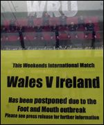 Ireland match cancellation notice