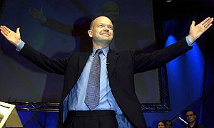 William Hague addressses the Conservative Party spring conference in Harrogate