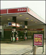 Esso service stations are one of many petrol retailers to print credit card details on their receipts.
