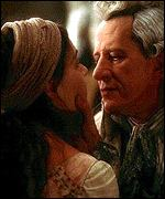 Geoffrey Rush and Kate Winslett