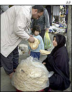 Women selling bread, Baghdad