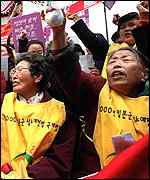 Protest by South Korean comfort women