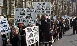 Care home owners lobby Parliament on Monday