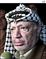 Palestinian Authority leader Yasser Arafat