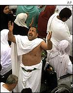 Pilgrim praying at Arafat