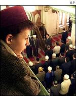 Young Muslim at Moscow mosque