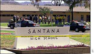 police at Santana High School