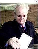 Slobodan Milosevic voting