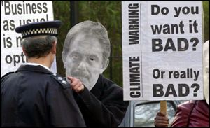 Placards and blair masks PA