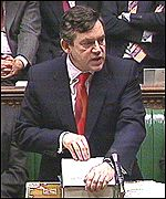 Gordon Brown presenting his 2001 budget