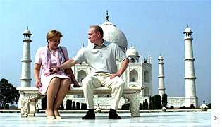 Vladimir and Ludmilla Putin in India
