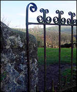 Gate at Brithdir Mawr