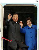 South Korean President Kim Dae-jung with wife Lee Hee-ho