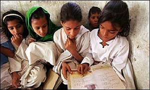 Girls in Pakistan reading