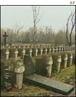 Graves at the Katyn massacre site