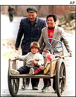 Chinese family in a rural district