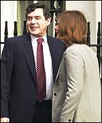 Gordon Brown and Sarah Macauley