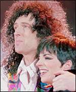 Brian May and Liza Minnelli