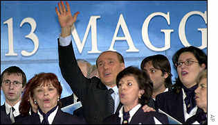 Silvio Berlusconi and Forza Italia supporters