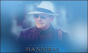 Publicity poster for Hannibal - a Vivendi Universal film starring Anthony Hopkins